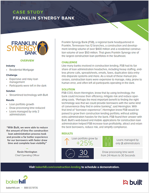 Franklin synergy bank case study cover